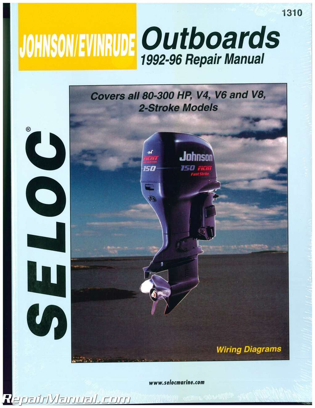 SL1310 Seloc 1992-1996 Johnson Evinrude 4, 6, 8, Cylinder 2 - Stroke Outboard Boat Engine Repair Manual by by Publisher