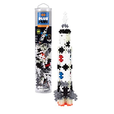 PLUS PLUS – Mini Maker Tube – Saturn V Rocket, Apollo 11 Space Playset – 240 Piece, Construction Building STEM | STEAM Toy, Interlocking Mini Puzzle Blocks for Kids: Toys & Games