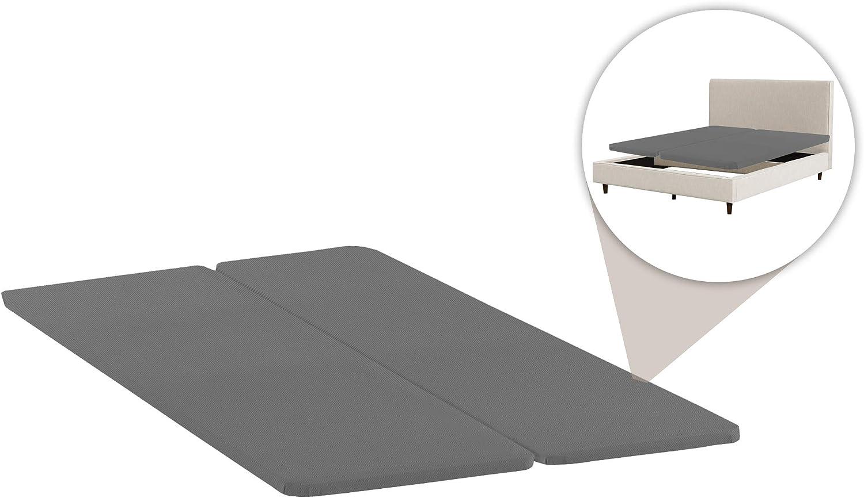 Amazon Com Spring Solution Wood Split Bunkie Board Slats Mattress Bed Support 2 Halves Included Fits Standard Full Grey Furniture Decor