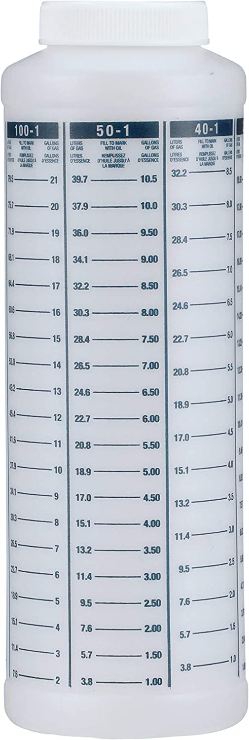 attwood 11873-1 Wide-Mouth Marine Fuel/Oil Mixing Bottle 1-Quart, One Size: Automotive
