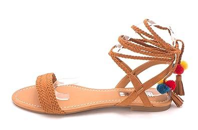 INC International Concepts Womens Ganice2 Fabric Open Toe Golden Cog Size 9.0