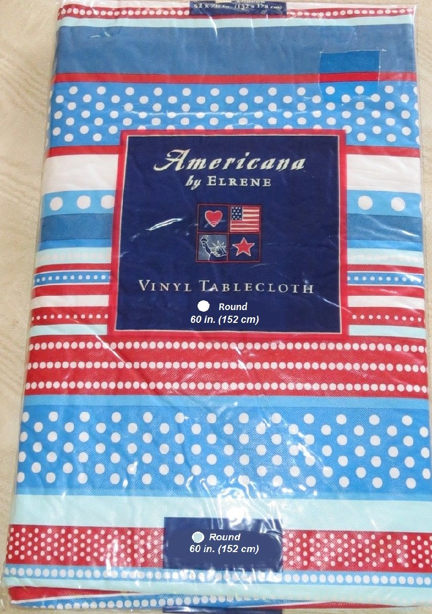 Patriotic kitchen - Amazon Com American Patriotic Red White Blue July 4th Vinyl Flannel Back Tablecloth 60 Round Home Kitchen