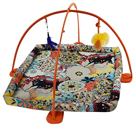 Cheng Terry Cama Elegante para Mascotas Animales Favorite Cat Play Mat, Cat Tent Activity Center