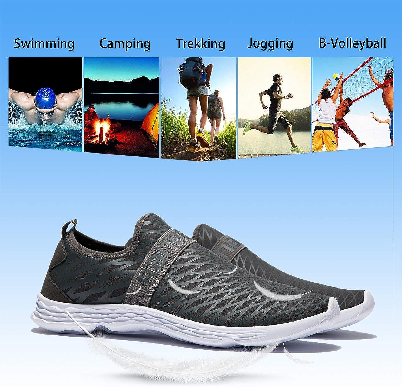 MAYI Chaussures Aquatiques Hommes Chaussures de Plage Antid/érapantes Chaussures deau l/ég/ères et Souples