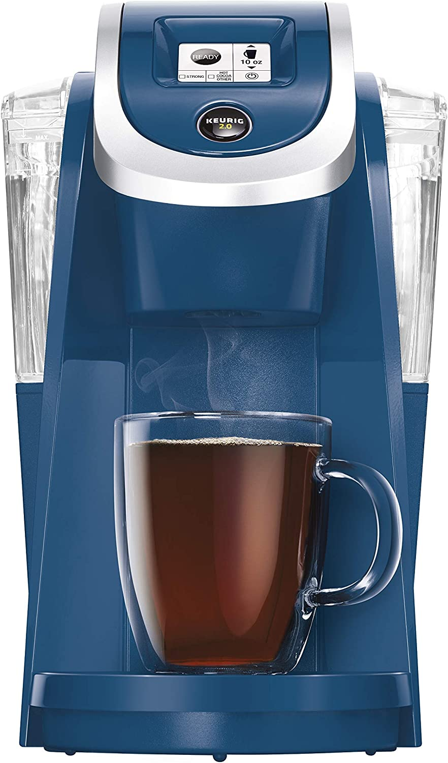 Keurig K200 Coffee Maker, Single Serve K-Cup Pod Coffee Brewer, With Strength Control, Denim (Renewed)