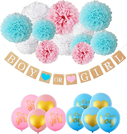 Amazon.com: Baby Shower Decoraciones, es un niño, guirnalda ...
