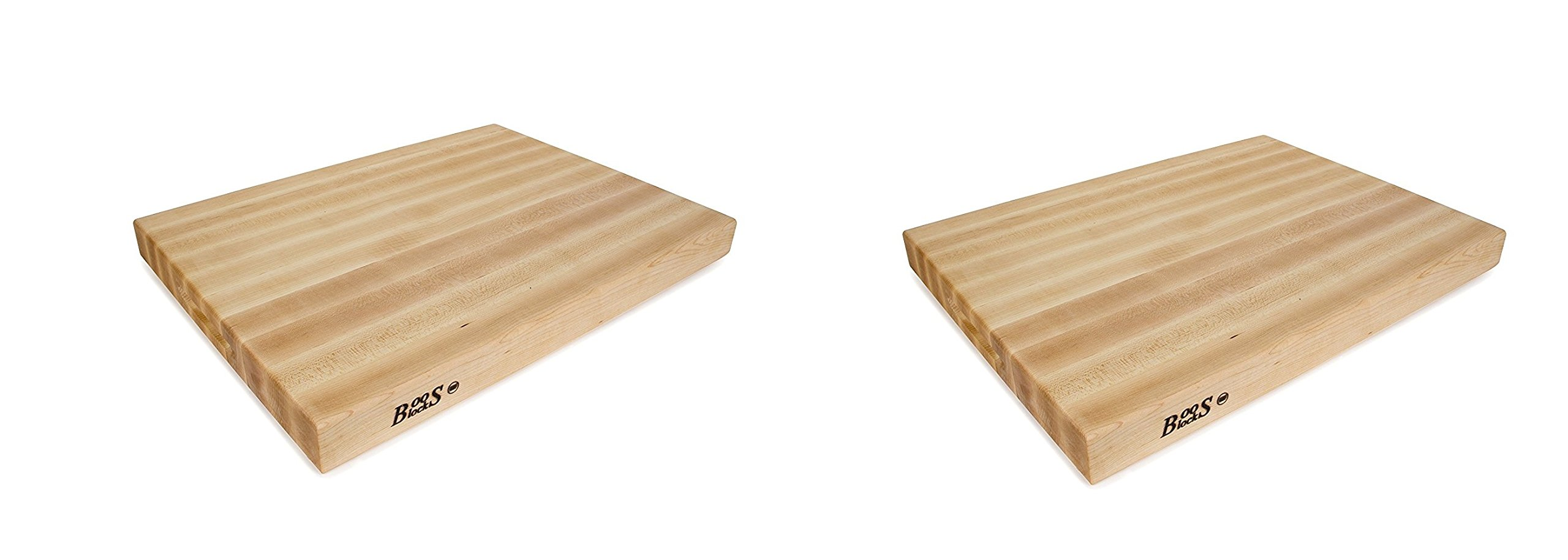 John Boos RA03 Maple Wood Edge Grain Reversible Cutting Board, 24 Inches x 18 Inches x 2.25 Inches (Pack of 2)