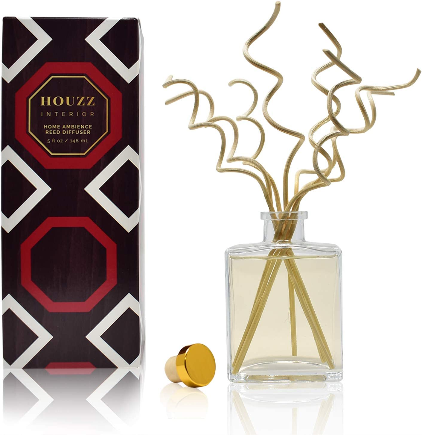 HOUZZ Interior Reed Diffuser Sticks Farmhouse Apple Room Fragrance – Juicy Apples & Fresh Limes with Anjou Pear – Made with Natural Essential Oils – No Sulfates or Parabens – Made in The USA