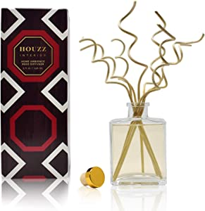 HOUZZ Interior Reed Diffuser Sticks Grapefruit and Orange Blossom Room Fragrance – Orange Flower, Grapefruit & Vanilla – Made with Natural Essential Oils – No Sulfates or Parabens – Made in The USA