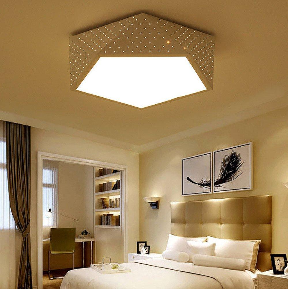 HK Moderno minimalista rotondo romantico camera da letto dei bambini camera da letto soggiorno sala da pranzo lampada da soffitto a LED,geometria,Luce bianca 40