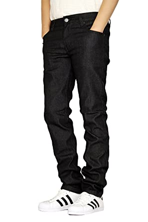 Men S Skinny Fit Unwashed Raw Denim Jeans At Amazon Men S Clothing