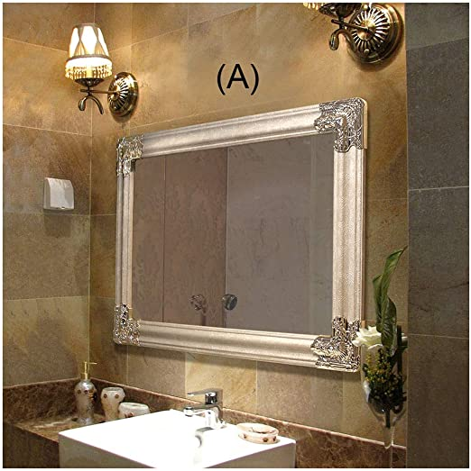 CJW Modelo de jardín Impermeable Blanco Baño de Pared vanidad Espejo de baño Estilo Simple 20 Pulgadas * 28 Pulgadas (50cm * 70cm) (Color : A, tamaño : 70X50cm): Amazon.es: Hogar