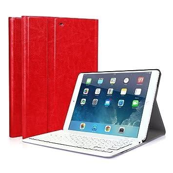 CoastaCloud iPad 9.7 2018/iPad 9.7 2017 Funda Magnética con Teclado Bluetooth Inalámbrico QWERTY Español para iPad Air 1/iPad Air 2/iPad Pro ...