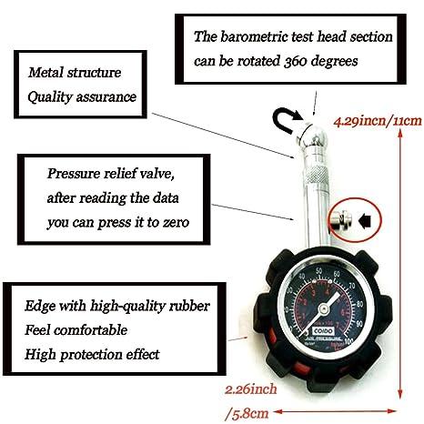 Moto o coche medidor de presión de neumáticos Medidor de presión de neumáticos universal