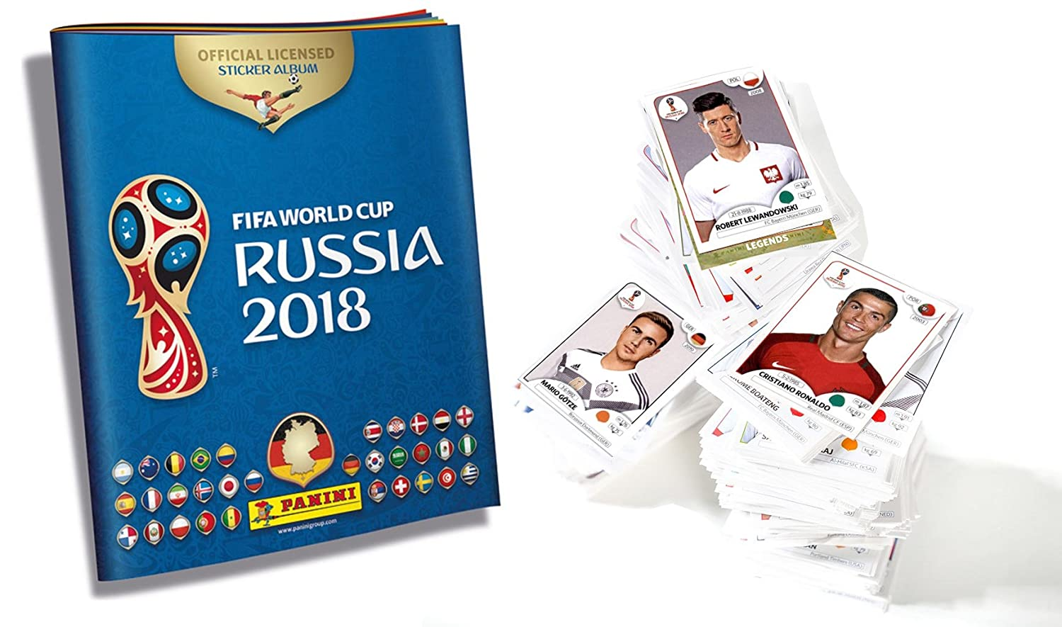 Panini World Cup Russia 2018 Sticker - 1 Complete Set All + 1 Sticker Album: Amazon.es: Juguetes y juegos