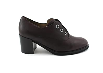 Chaussures L5512 MELLUSO Bordeaux Femme décollet Cuir nw80OPk