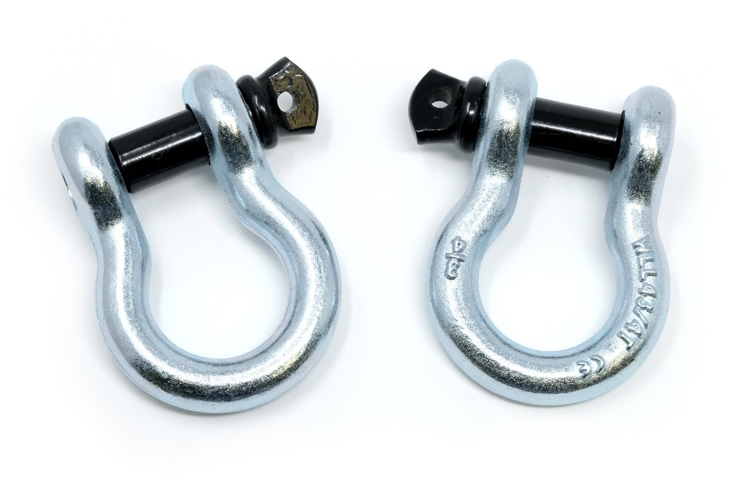 2 pcs LFPartS D-Ring Shackles Set 3//4 Powder Coat Heavy Duty for Vehicle Recovery Towing Jeeps Boats Trucks Atvs 3//4 Shackles Silver
