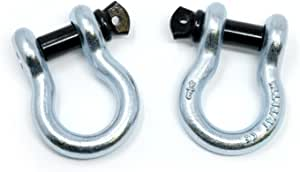 3//4 Shackles Black Boats Trucks LFPartS D-Ring Shackles Set 3//4 Powder Coat Heavy Duty for Vehicle Recovery Towing Jeeps Atvs 2 pcs