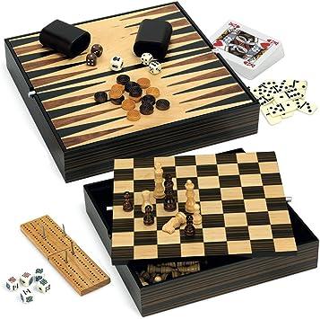 Juego Luxury Chess With 7 Games In 1 (ITA Toys JU00410): Amazon.es: Juguetes y juegos