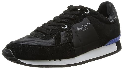 Pepe Jeans Tinker, Zapatillas para Hombre, Black 999, 41 EU: Amazon.es: Zapatos y complementos