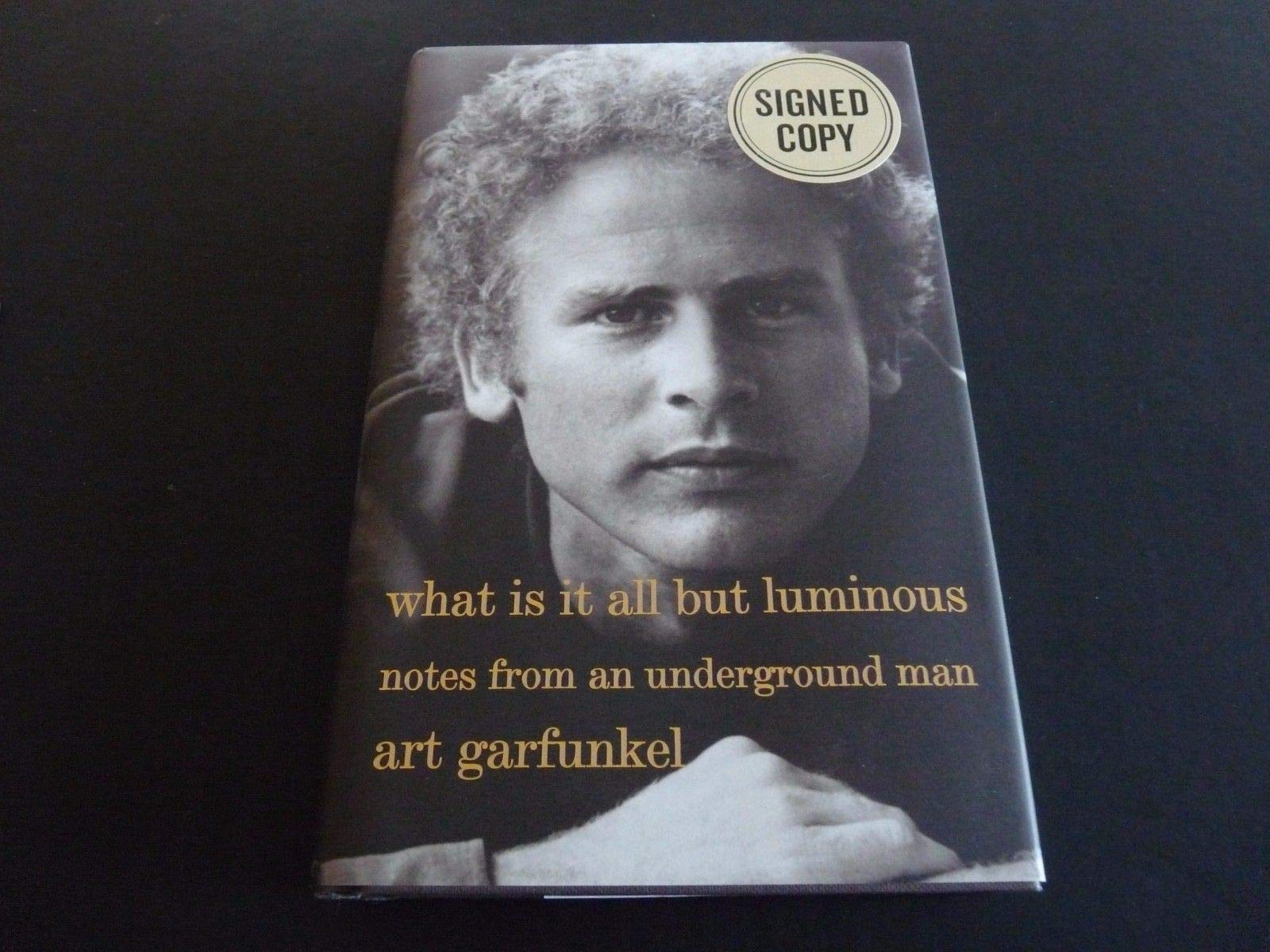 Art Garfunkel Luminous Notes Autographed Signed Hb Book Beckett Authentic
