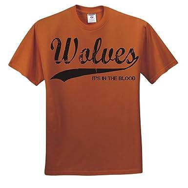 Wolves It s in the Blood Wolverhampton Wanderers Football T Shirt (Medium) 7de5bb4d9