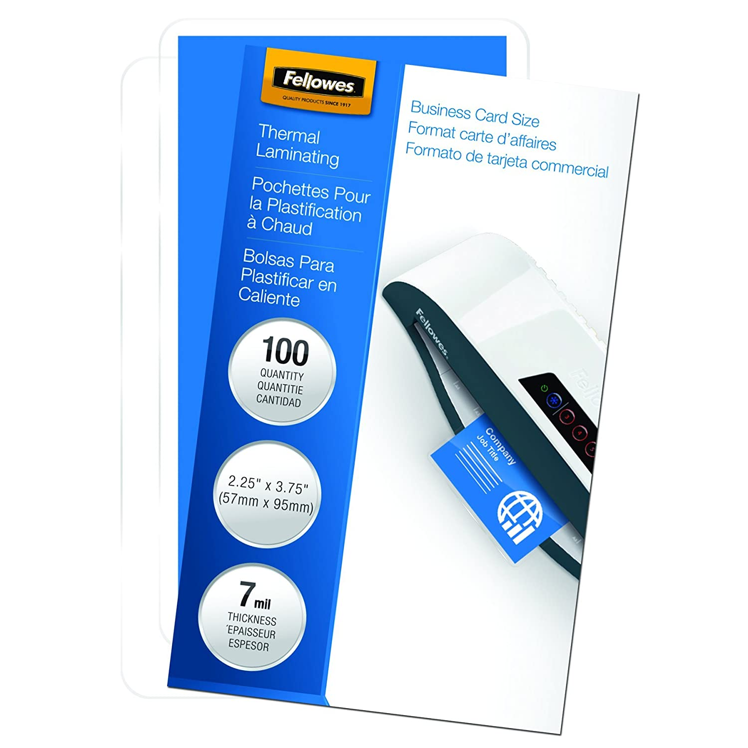 durable service Fellowes Laminating Pouches, Thermal, Business Card ...