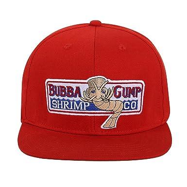 88f576b9 Himozoo Adjustable Bubba Gump Baseball Cap Shrimp Co. Embroidered Snapback  Hats (Red): Amazon.co.uk: Clothing