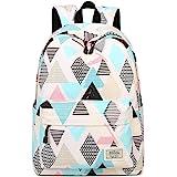 Joymoze Waterproof School Backpack for Girls Middle School Cute Bookbag Daypack for Women Rhombus 843