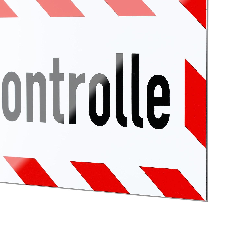 Magnetschild Streckenkontrolle 35 x 11 cm lieferbar in drei Gr/ö/ßen Schild magnetisch