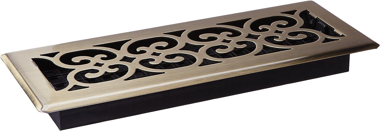Decor Grates Scroll Steel Nickel Floor Register 4X12/'/' SPH412-NKL Set of 2