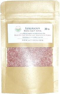 ATTIS Lujoso jabón de sal de baño con aceite esencial de helichrysum, sal del mar muerto, copos de magnesio, sal del…