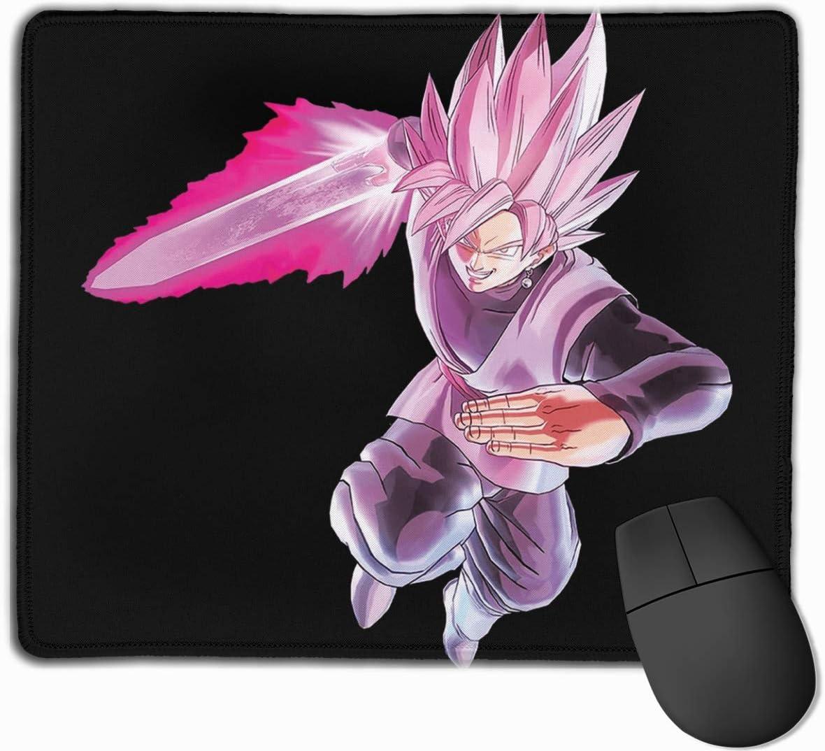 Mouse Pad Gaming Dragon Ball Super Goku Black Rose Computer Laptop Mousepad Cosido Edge Gaming Mouse Pad