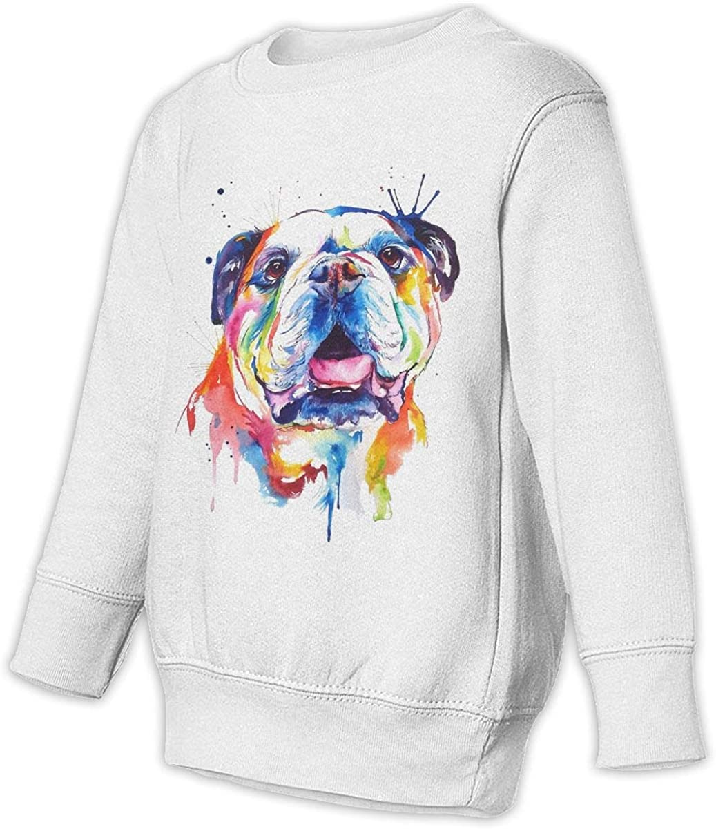 wudici Watercolor Dog Boys Girls Pullover Sweaters Crewneck Sweatshirts Clothes for 2-6 Years Old Children