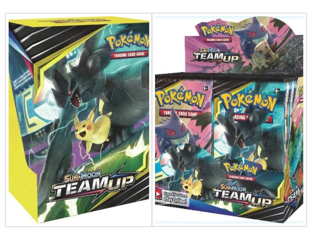 Pokémon TCG Sun & Moon Team Up Booster Box + Build and Battle Box Prerelease Kit Pokémon Trading Card Game Bundle, 1 of Each