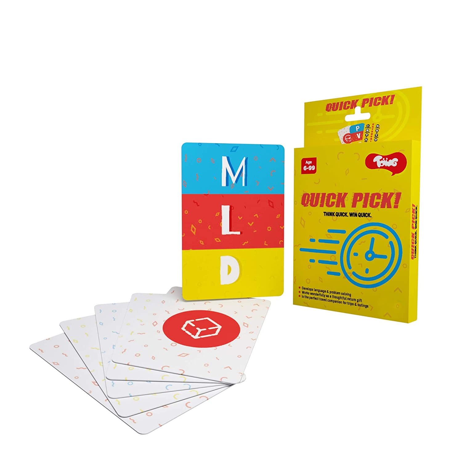 Toiing Quick Pick Educational Card Games for Kids