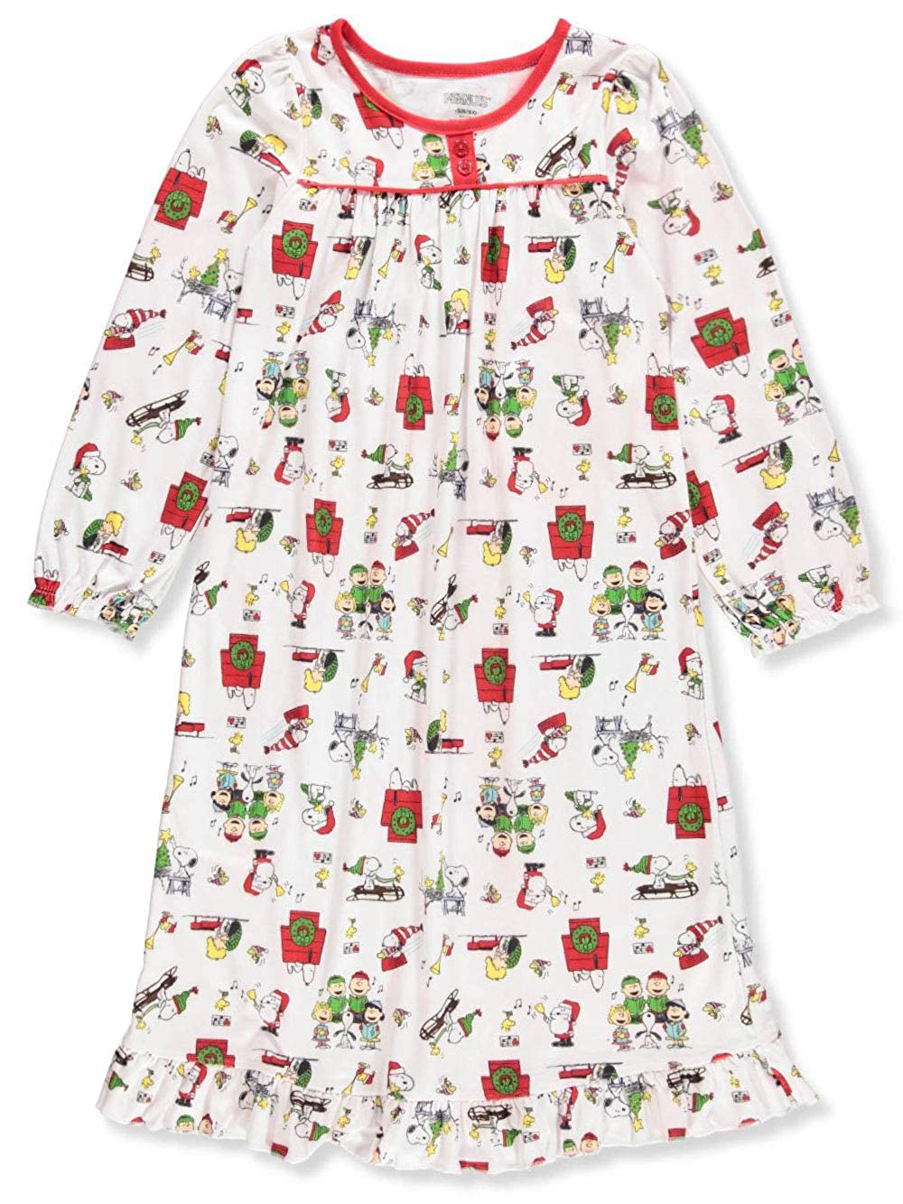 Peanuts Toddler Girls Christmas Holiday Granny Gown Nightgown Pajamas manufacturer