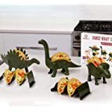 Family 5 Pack Dinosaur Taco Holder Set - Taco Fun For the Parents And Kids. Includes a Stegosaurus, Triceratops…