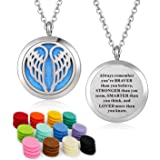 """YOUFENG Essential Oil Necklace Diffuser Family Tree Stainless Steel Aromatherapy Diffuser Locket with 24"""" Chain"""
