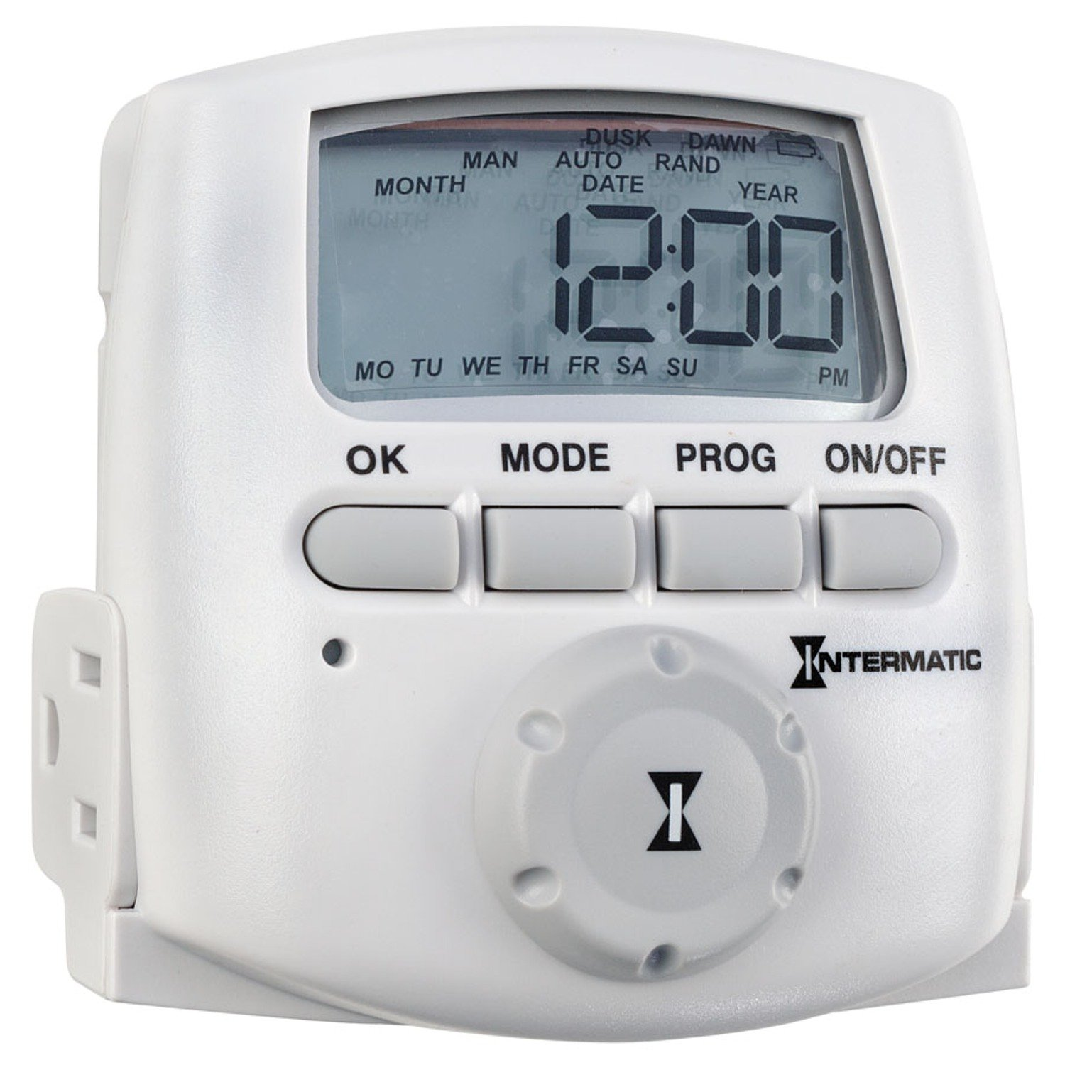 Intermatic DT620 Heavy Duty Indoor Digital Plug-In Timer, White by Intermatic