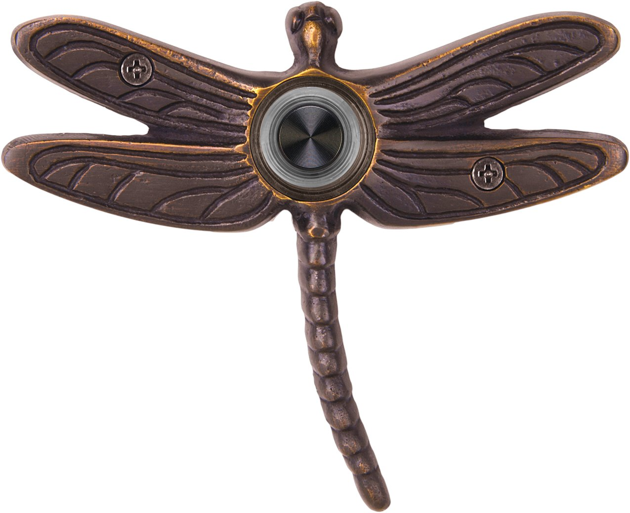 Waterwood Solid Brass Summer Dragonfly Doorbell in Oil Rubbed Bronze