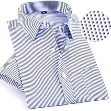NSSY Camisa de Hombre Camisas de Vestir de Manga Corta con diseño de Verano para Hombres Camisas Populares de Mediana Edad con Corte Regular, Que no Sean de Hierro, XL: Amazon.es: Hogar