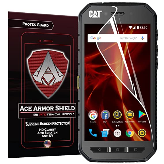 Cat S31 2 Pack Ace Armor Shield Full Coverage Screen Protector Clear Anti Bubble Shield