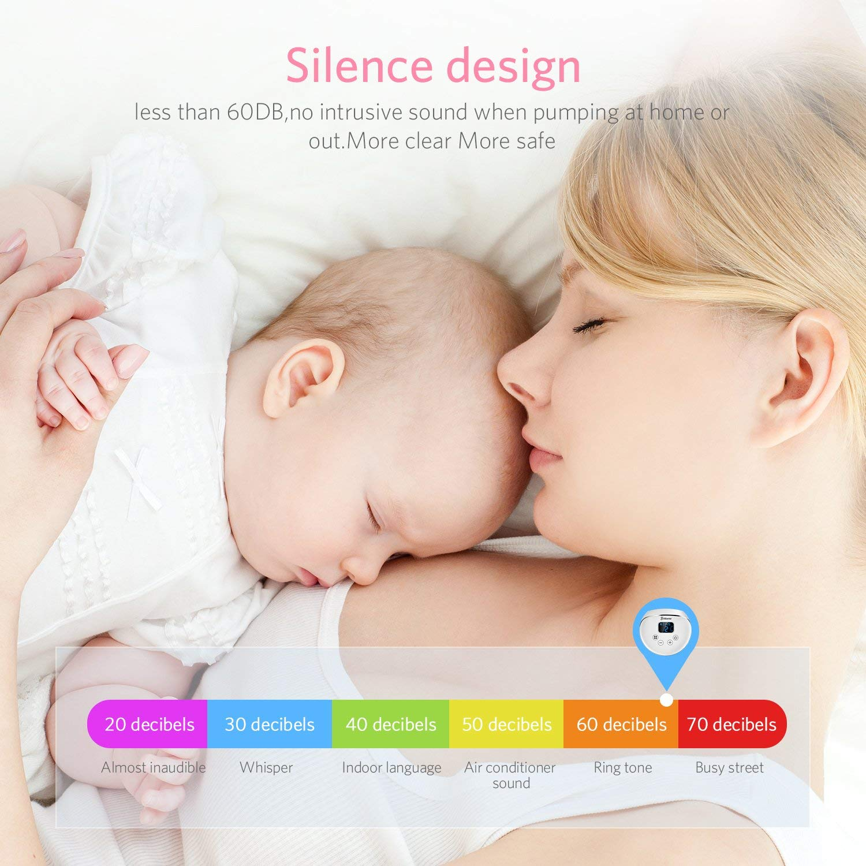 Elektrische Milchpumpe Brustpumpe mit Touchscreen LCD Display Einzelsauger und Massage Dualmodus Anti-R/ückfluss-Design BPA Frei Tragbar Automatische Milchpumpe