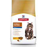 Hill's Science Diet Senior Cat Food, Adult 7+ Hairball Control Chicken Recipe Dry Cat Food, 4kg Bag