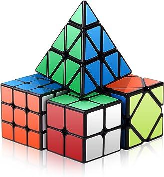 ROXENDA Speed Cube Set, Cubo Mágico Conjunto de 2x2x2 3x3x3 Skew ...