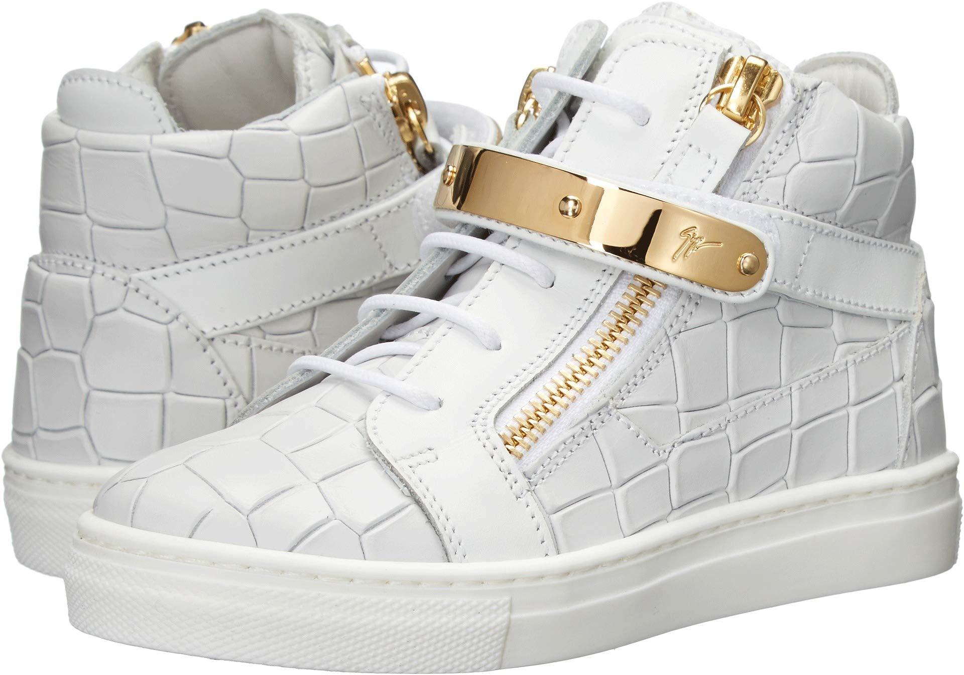 Giuseppe Zanotti Kids Unisex Aftering Sneaker (Toddler/Little Kid) White 30 M EU M