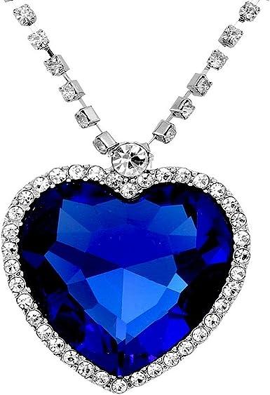 grabado 925er Sterling plata-incl Charm remolque corazón con la piedra zafiro azul