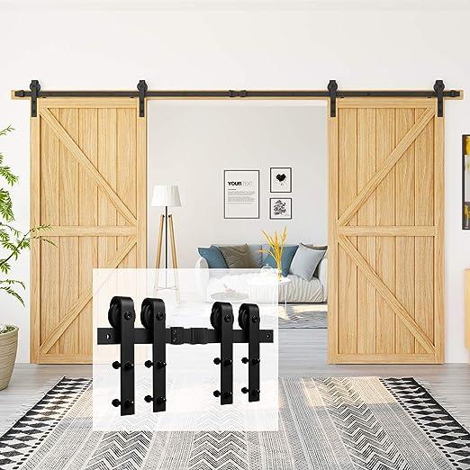 Homlux - Kit de Herramientas para Puerta corredera, Resistente, Suave y silencioso, Simple y fácil de Instalar,