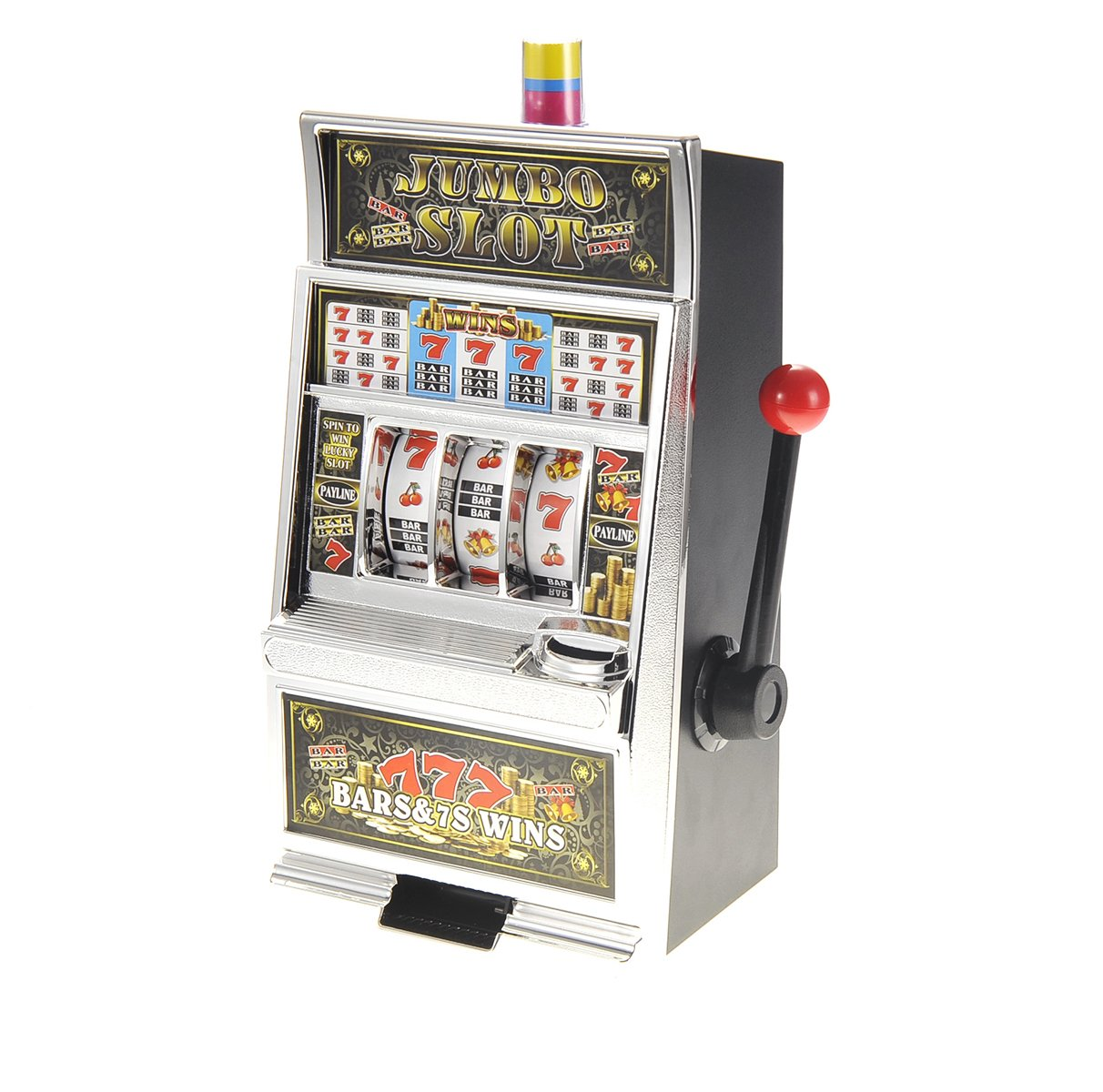 AMPERSAND SHOPS Lucky 7 Casino Slot Machine Replica 15'' x 9'' Coin Bank by AMPERSAND SHOPS (Image #1)